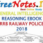 General Intelligence Reasoning Ebook RRB Railway Police 2018