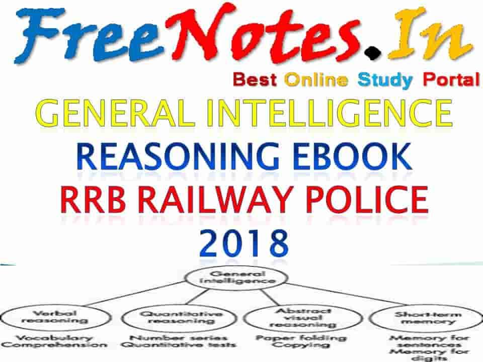 General Intelligence Reasoning Ebook RRB Railway Police 2018