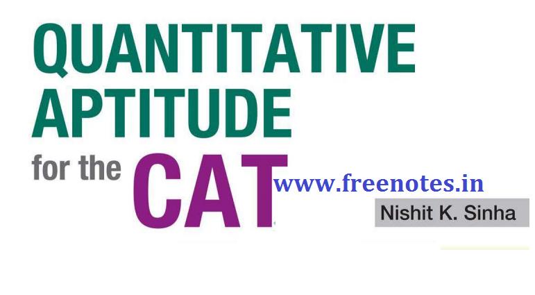 CAT Exam 2019 Quantitative Aptitude PDF Download