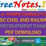 POWER CAPSULE SSC CHSL RAILWAY RECRUITMENT EXAM