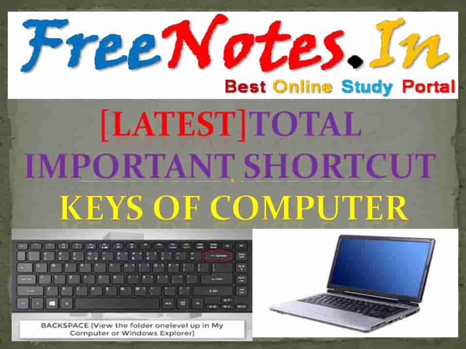 Total Important Shortcut Keys Computer