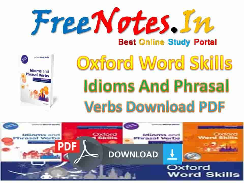 Oxford Word Skills Idioms Phrasal Verbs