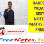 Rakesh Yadav Best Notes Maths PDF