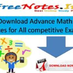 Download Advance Maths Notes for All competitive Exams