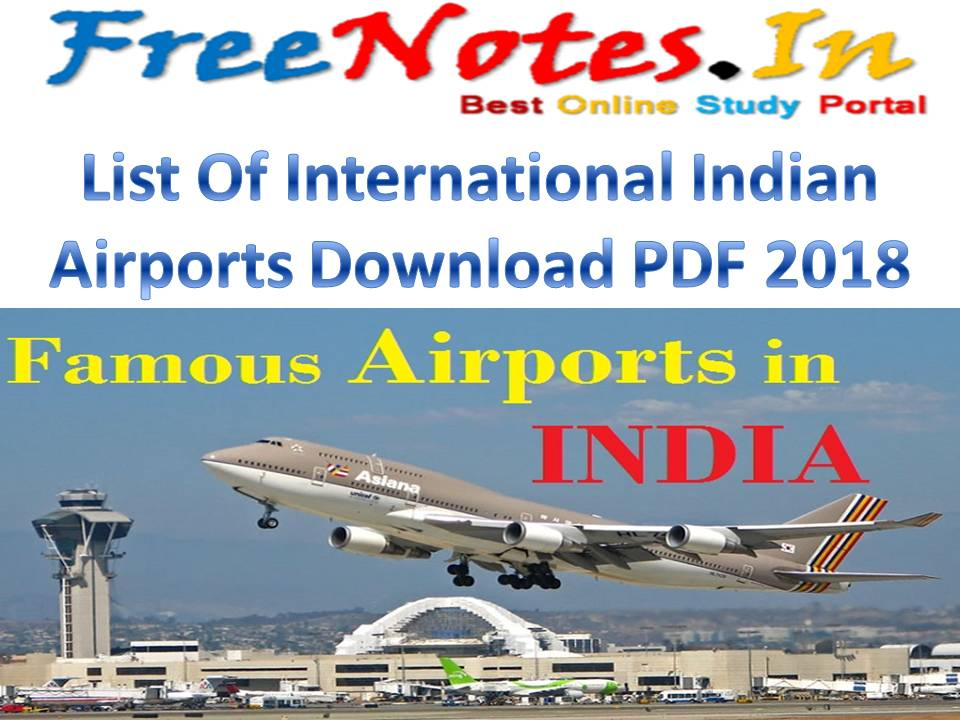 List Of International Indian Airports
