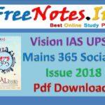 Vision IAS UPSC Mains 365 Social Issue 2018