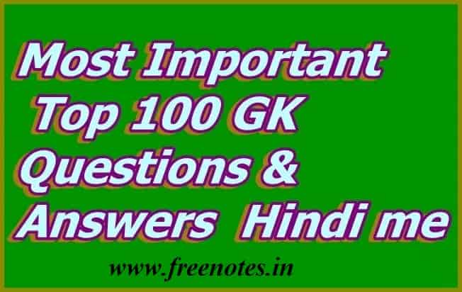 Most Important Top 100 GK Q&A