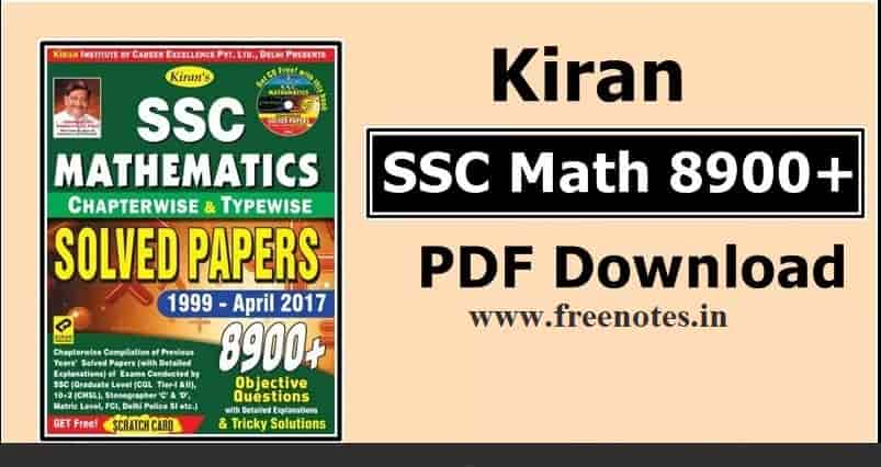 kiran 8900 Math's In Hindi 2018 PDF Download