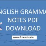 English Grammar Hand Written PDF Notes Download