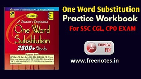 Latest Hindi One Word Substitution Book PDF Download