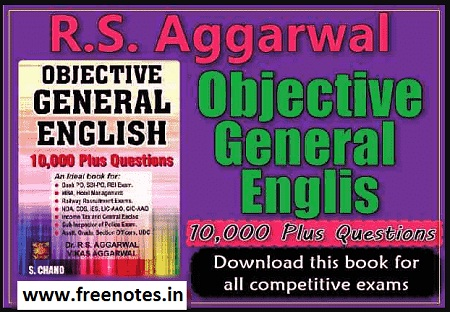 RS Aggarwal Objective General English Book PDF Download