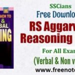 RS Aggarwal Reasoning Book Free PDF Download