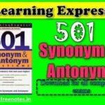 Synonym and Antonym 501 Questions book PDF Download