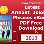 Latest Arihant Idioms Phrases Ebook 2019 PDF Download