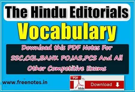 The Hindu Editorials Vocabulary 800 Words PDF download