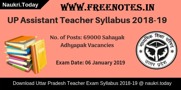 UP 69000 Assistant Teacher Exam Syllabus 2018 PDF Download