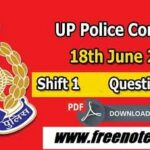 UP Police Constable 18th June Shift 1 Free PDF Download