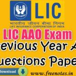 LIC AAO Exam Previous Year All Question Papers 2019