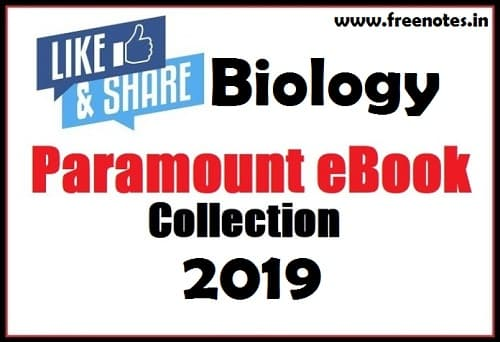 Paramount Biology Notes 2019 PDF Hindi ebook