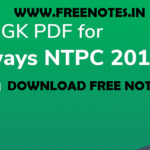 RRB NTPC 2019 Static GK Question Answer PDF ebook