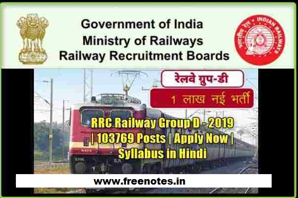 RRB/RRC Group D 103769 Post Syllabus 2019 PDF Ebook