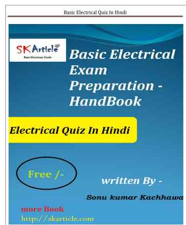 ITI Electrician Latest Books Free Download In Hindi pdf