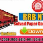 RRB NTPC Previous Year Paper PDF Book Download