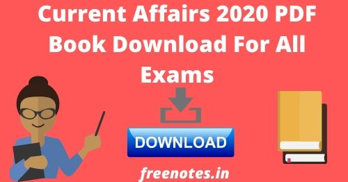 Current Affairs 2020 PDF Book Download For All Exams