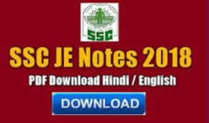 SSC JE Electrical Notes PDF Download Books