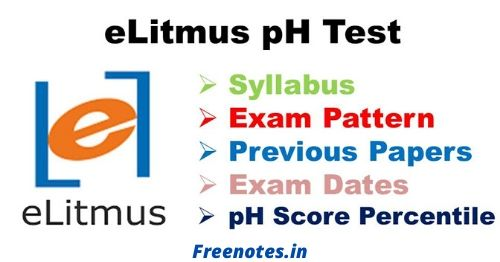 elitmus syllabus Exam Pattern eLitmus pH Test Preparation Tips
