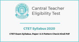 CTET Syllabus Download PDF Book In Hindi Exam Pattern