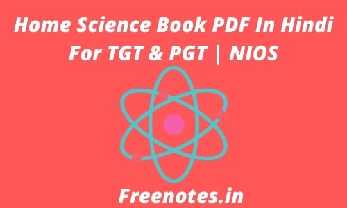 Home Science Book PDF In Hindi For TGT & PGT _ NIOS