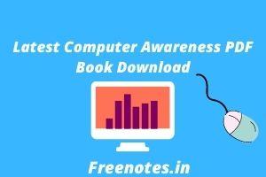Latest Computer Awareness PDF Book
