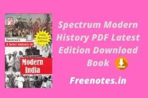 Spectrum Modern History PDF Latest Edition