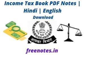 Income Tax Book PDF Notes _ Hindi _ English