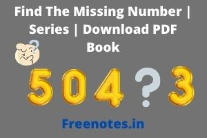 Find The Missing Number _ Series _ Download PDF Book