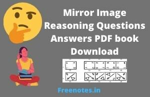 Mirror Image Reasoning Questions Answers PDF book Download