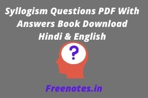 Syllogism Questions PDF With Answers Book Download