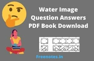 Water Image Question Answers PDF Book Download