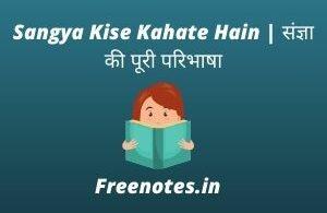 Sangya Kise Kahate Hain संज्ञा की पूरी परिभाषा