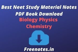 Best Neet Study Material Notes PDF Book Download