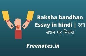 Raksha bandhan Essay in hindi रक्षा बंधन पर निबंध