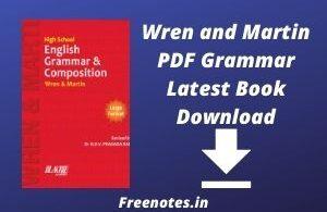 Wren and Martin PDF Grammar Latest Book Download