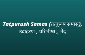 Tatpurush Samas (तत्पुरूष समास), उदाहरण , परिभीषा , भेद