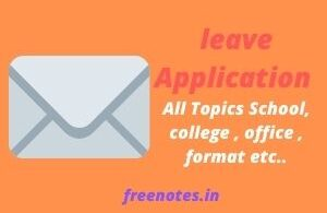 leave Application All Topics School, college , office , format